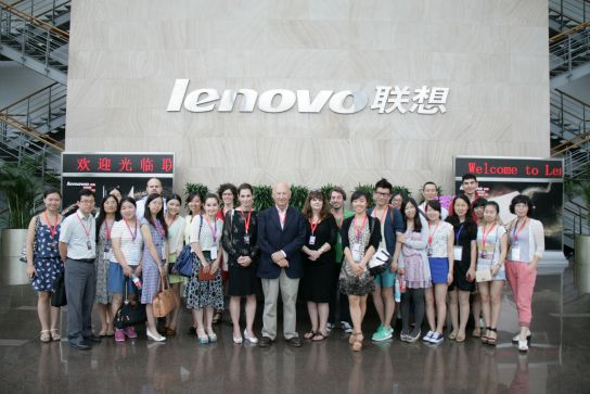 Official visit a Lenovo headquarters